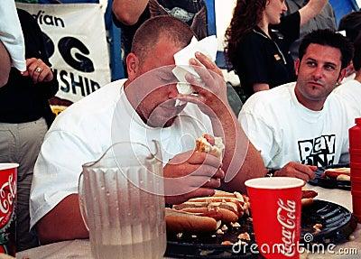 Hot Dog Eating Championship Editorial Photo