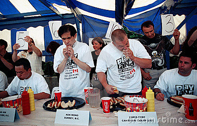 Hot Dog Eating Championship Editorial Image