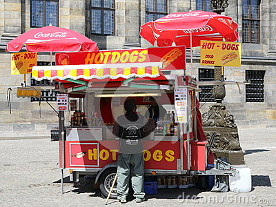Hot Dog Stand Editorial Image