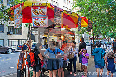 Hot dog stand Editorial Photo
