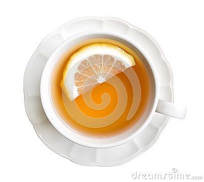Free Hot Earl Grey Tea With Lemon Slice Top View Isolated On White Ba Royalty Free Stock Images - 91897909
