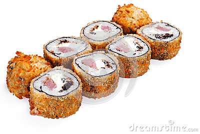 Hot fan sushi roll with tune