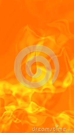 Hot Fiery Flames Background