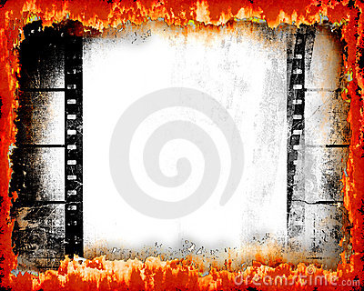 Hot Film Grunge Background