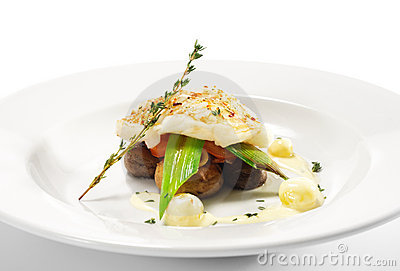 Hot Fish Dishes - Halibut fillet