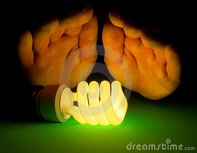 Hot fluorescent lamp
