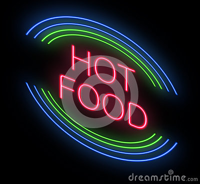 Hot Food Sign Stock Photo Image 31027240