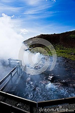 Hot geothermal water