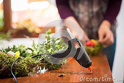 Hot glue gun Stock Photo