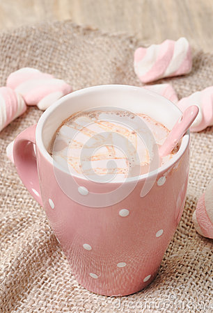 Hot homemade cocoa