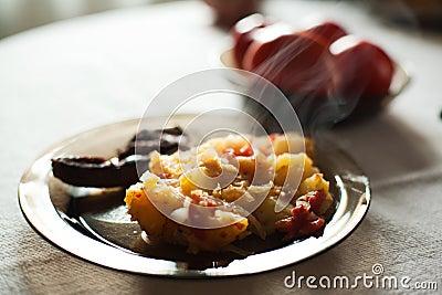 Hot homemade meal