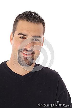 Hot latino man isolated on white