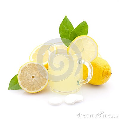 Hot lemon drink