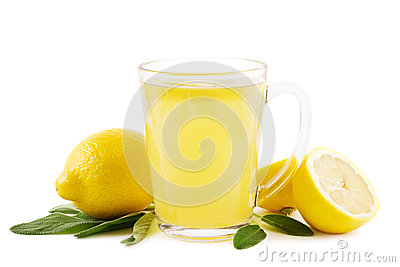 Hot lemon with sage