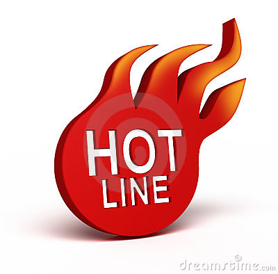 Hot Line icon over white