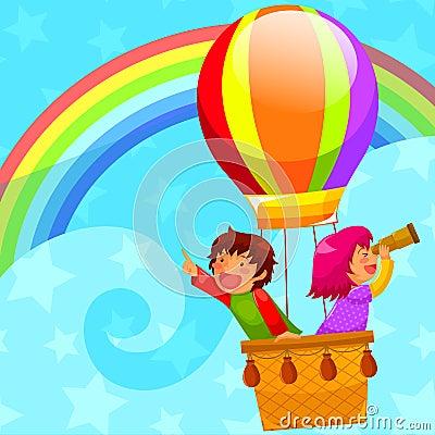 Hot luftar ballongen