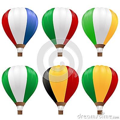 Hot luftar fastställda ballonger