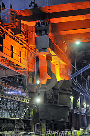 Hot molten steel