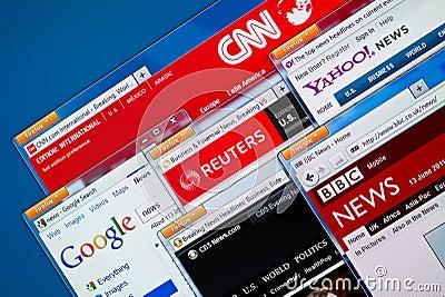 Hot News Web Sites Editorial Photo