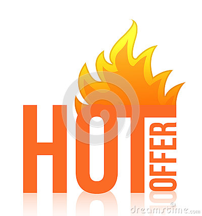 Hot offer fire illustration design