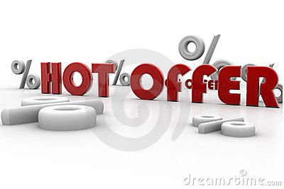 Hot offer and percentage