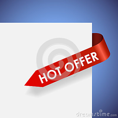 Hot offer red paper label