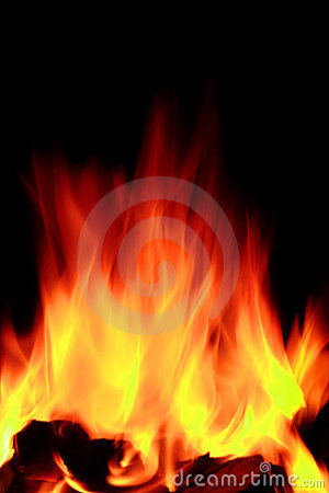 Free Hot Open Fire Flames Stock Photography - 22458992