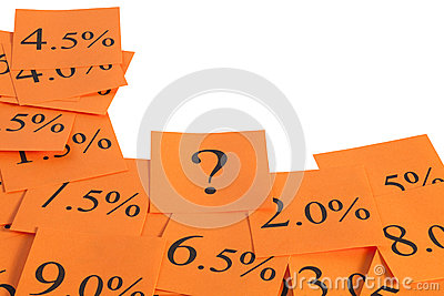 Hot Orange Interest Rate Border