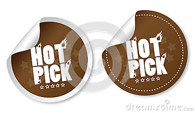 Hot pick stickers