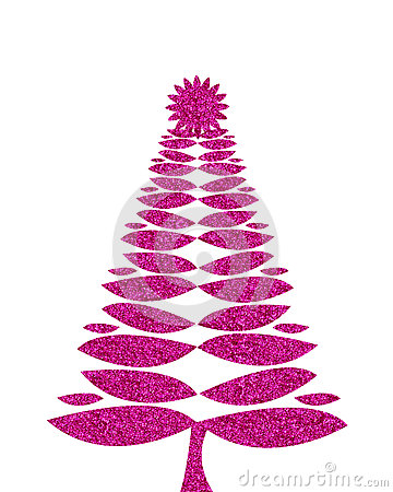 hot pink christmas tree background with glitter royalty free stock photos image 33862088. Black Bedroom Furniture Sets. Home Design Ideas