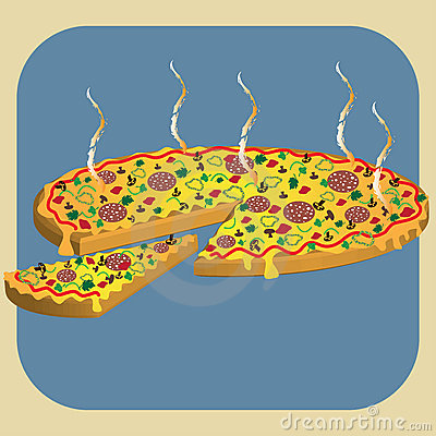 Free Hot Pizza Royalty Free Stock Photography - 10160867