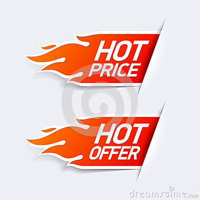 Hot price and hot offer symbols