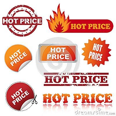 Hot price icons