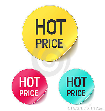 Free Hot Price Sticker Royalty Free Stock Photos - 16017188