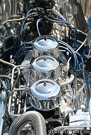 Free Hot Rod Chrome Engine Block Royalty Free Stock Image - 2430196