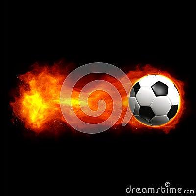 Free Hot Soccer Ball Stock Photos - 14400913