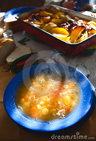 Hot soup meal