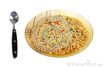 Hot Spicy Noodles Bowl Spoon