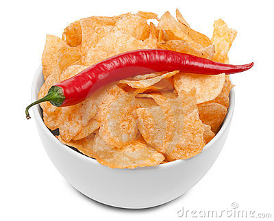 Hot spicy Potato Chips