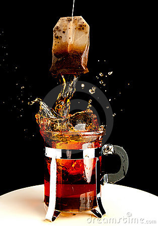 Hot splash of tea