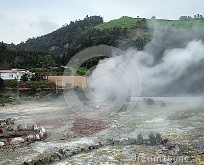 Hot spring at the Azores