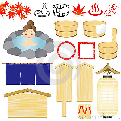 Hot-spring icons
