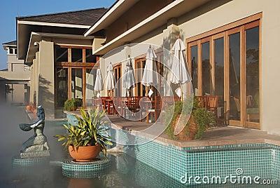 The hot spring resort
