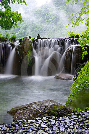 Hot spring waterfall