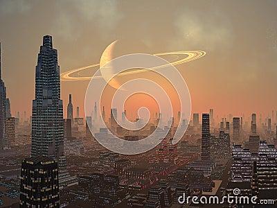 Hot Summer Night in Alien City