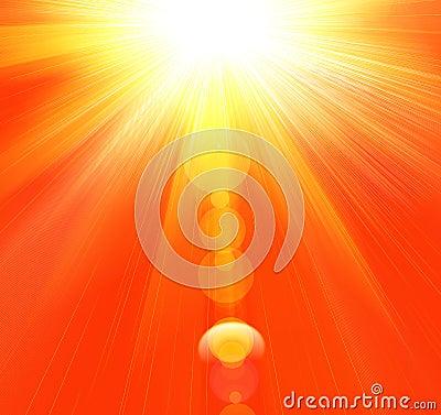 Hot summer rays