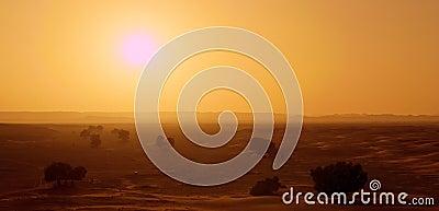 Hot Sun In Morocco Near Erg Chebbi
