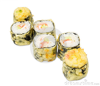 Hot sushi rolls