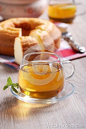 Hot tea for breakfast