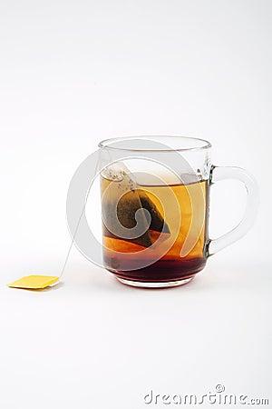 Hot tea in glass